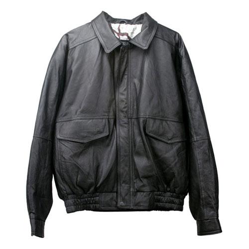 Hurricane Embossed Leather Jacket