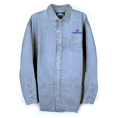 Denim Long Sleeve Cotton Twill Shirt